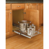 Single Pull-Out Basket in Chrome Wire